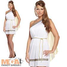 Señoras Romano Mujer De La Antigua Roma Fancy Dress histórico Adultos Disfraz UK 10 12 14