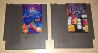 Tetris 1 and 2 I II Nintendo NES  Vintage original puzzle Game Cartridge Lot Set