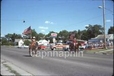 Cowgirls on Horses Pass APCO Gas Service Station Vintage 1977 Slide Photo