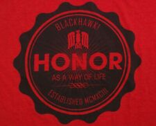 "Blackhawk ""Honor As A Way Of Life"" T Shirt Size Large Red NSW SEAL DEVGRU"