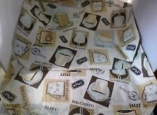 Java Coffee Brown WIPE ABLE Place mats Lot 4 18 by 13 Ivory Espresso Latte