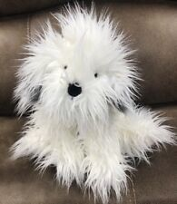 "Russ Berrie Shags White Gray Old English Sheep Dog 18"" Plush Shaggy Puppy Dog"
