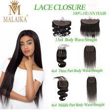 Brazilian Wave/Straight  Lace Frontal Closure Human Hair 13x4 4x4 ThreeFree Part