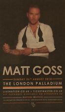 MATT GOSS ( BROS ) AUGUST 2018 LONDON PALLADIUM ADVERT