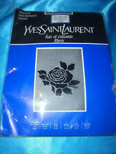 Yves Saint Laurent Feinstrumpfhose mit Applikation Gr. 42-44 schwarz Collant OVP
