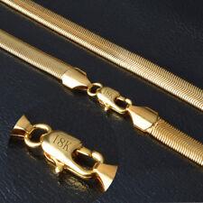 Fashion Men Women 18K Gold Plated Snake Chain Choker Necklace Jewelry 8MM 23inch