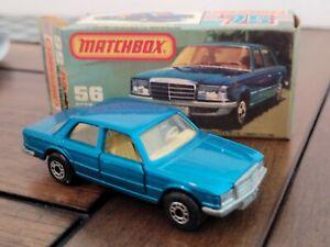 1979 VTG Lesney Matchbox SUPERFAST #56 MERCEDES 450 SEL New in Original Box NIB