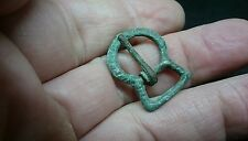 Lovely little intact bronze Medieval buckle L460