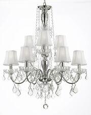 ELEGANT 9 LIGHTS CRYSTAL CHANDELIER SHADE LIGHTING FIXTURE PENDANT CEILING LAMP