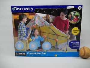 Discovery Construction Fort  72 Piece Build and Play Ages 5+ Complete
