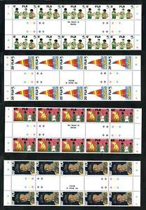 FIJI 1982 Boy Scouts Set of 4 Gutter blocks of 10 SG 628-631 MNH / UMM (-20)