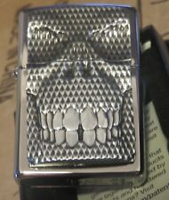ZIPPO Carbon Skull emblem collectible lighter brand new in box