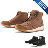 NEW ICON TRUANT 2 MOTORCYCLE  BOOTS ALL SIZES BOTH COLORS SPORT CRUISER TOURING