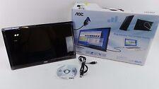 Used AOC e1759Fwu 17-Inch Ultra Slim 1600x900 Res, Brightness USB Portable GOOD