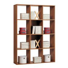 Libreria scaffale legno 4 ripiani colore noce L110xP30xh175cm arredo casa 96L02N