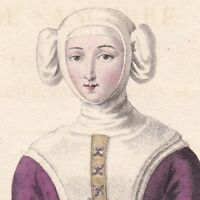 Portrait Jeanne de Sancerre Dame De Châtillon-sur-Loing, Dame  De Saint-Brisson
