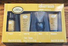 The Art of Shaving Lemon Essential Oil 4 Elements Starter Travel Kit Set NEW