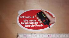 Alter Aufkleber BOSCH Funk Gerät KF mini-s Technik