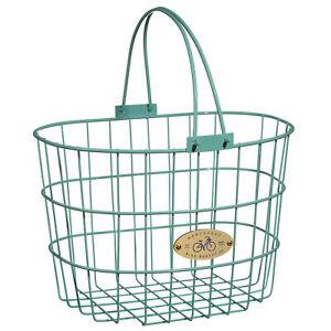 Nantucket Bike Basket Surfside Wire D Basket Turquoise