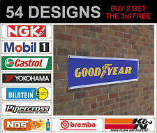 NGK Mobil 1 castrol goodyear insegna cartello pubblicità officina TRACK