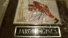 Jarome Inginla autographed pinnacle card photo nam plate framed lucite case pens