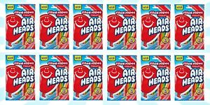 12 Airheads Original Fruit Flavored Filled Ropes 5 OZ EXP 6/22+
