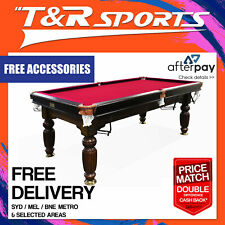 2017 MODEL 7FT WALNUT RED POOL SNOOKER BILLIARDS TABLE SLATE WITH ACCESSARIES