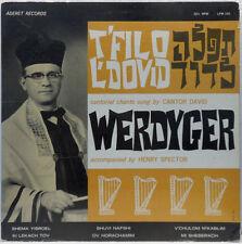 Cantor David Werdyger - Cantorial Chants LP Rare Jewish Hazanut Aderet Records