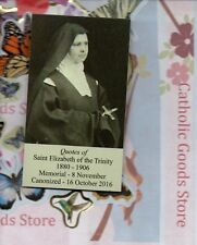 """Saint St. Elizabeth of the Trinity + Quotes(2 x 3.5"""") Heavy Paperstock Holy Card"""