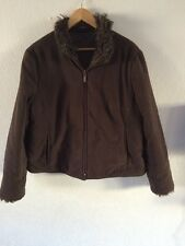 Principles Jacket Top Faux Fur Trim Size 18 <R4137
