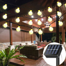 100 LED Solar Fairy String Lights Garden Outdoor Wedding Party  Ball Bulb Lamp