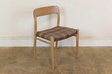 Vintage Retro Moller Model 75 Oak Danish Dining Chair