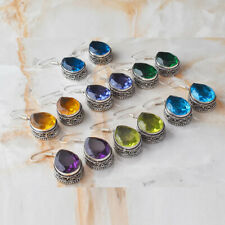 Mixed Gemstone Drop Dangle Handmade 7 pcs Wholesale Lot Jewelry Earrings