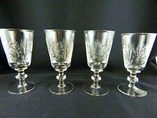 VINTAGE SET OF 4, BRILLIANT CUT CRYSTAL PINWHEEL LIQUOR/PORT/SHERRY GLASSES