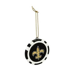 New Orleans Saints Game Chip Holiday Ornament [NEW] NFL Poker Christmas Tree