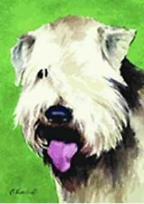 Artwork Garden Flag Soft Coated Wheaten Dog Small Outdoor Garden Flag Usa