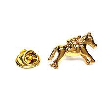 Golden Race Horse & Jockey Pin De Solapa Insignia Rider Club Trainer actual Caja De Regalo