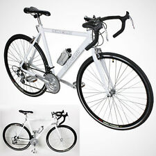 New 54cm Aluminum Road Bike Racing Bicycle 21 Speed Shimano - White Color