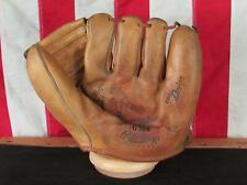Vintage 50s Rawlings Leather Baseball Glove Fielders Mitt Johnny Podres Dodgers