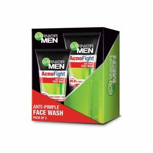 Garnier Men Acno Fight Anti-Pimple Facewash, Pack of 2, 100g Each
