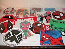 Marvel Sticker Bomb Lots Of 10 Spider-Man Hulk Iron Man Captain America Deadpool
