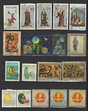 années 60 Viêt Nam un lot de timbres oblitérés  / T1692