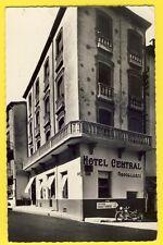 cpsm AMÉLIE les BAINS en 1959 Perle des Pyrénées HÔTEL CENTRAL Restaurant Moto