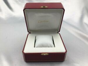 Genuine Cartier Empty Watch Box Case COWA0049 Authentic Red 210113022 P312