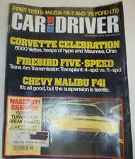 Car And Driver Magazine Corvette & Firebird Five-Speed September 1978 123014R2