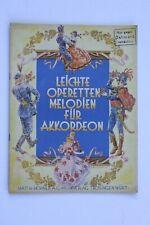 Noten.  Leichte Operettenmelodien.     Für Akkordeon.
