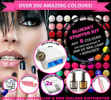 Bluesky Gel Nail Polish Kit-8 bottles+UV Lamp+Removal Wraps ~ Over 300 Colours!