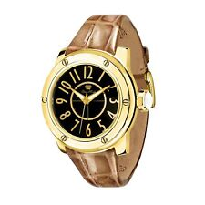 Glam Rock Women's Quartz Dial Black GR50004F Leather 42mm Round Luxury Watch NEW