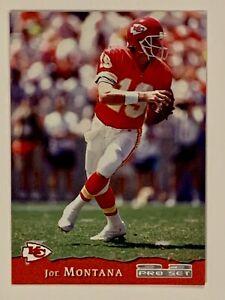 1993 Pro Set NFL Trading Card #198 Joe Montana Kansas City Chiefs