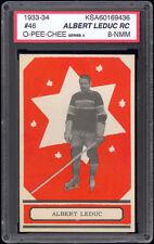 1933-34 V304 O-Pee-Chee Series A #46 Albert Leduc Rookie Card KSA 8